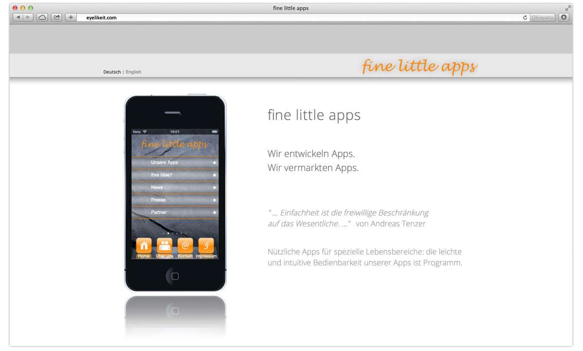 fine little apps made by eyelikeit