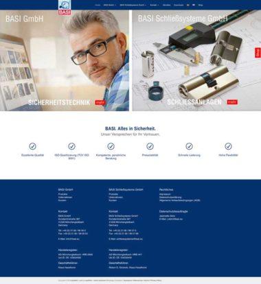Webdesign Beispiele –BASI GmbH