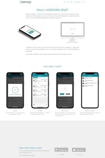 Webdesign für IT & Security - AMBITORIO SEND