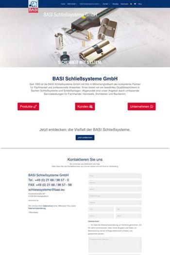 Webdesign für Service- und Dienstleistungen - BASI GmbH