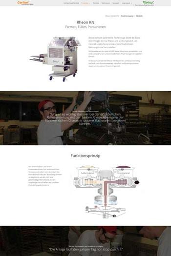 Webdesign Handel - Carlton Food Technik