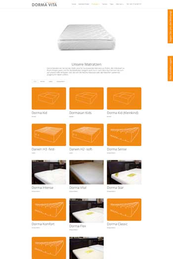 Webdesign für Handel - DormaVita