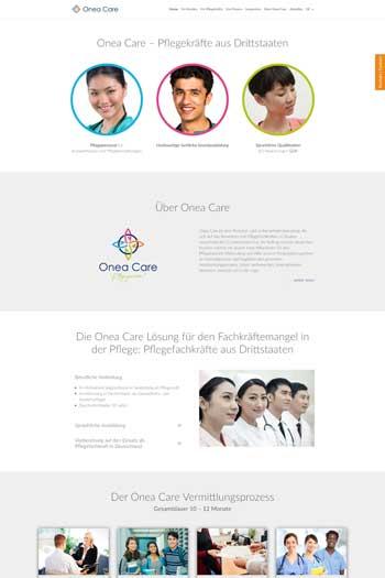 Webdesign für Gesundheit | Health | Medizin - Onea Care