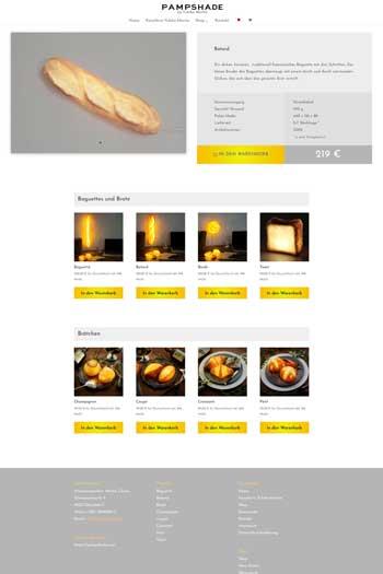 Webdesign für eCommerce, Online-Shops, Webshops - PAMPSHADE