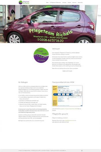 Webdesign für Service- und Dienstleistungen - Pflegeteam Richels