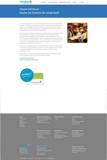 Webdesign für Service und Dienstleistungen - renatec