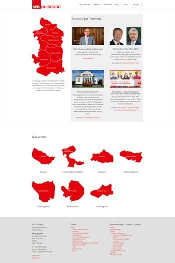 Webdesign für Service- und Dienstleistungen - SPD Duisburg