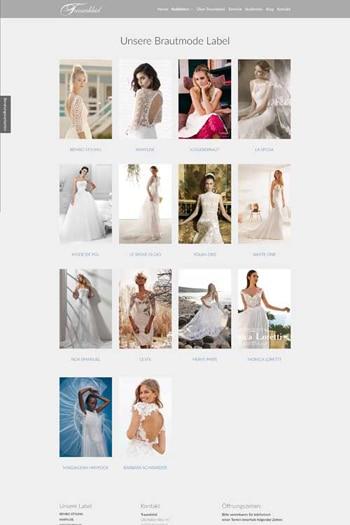 Webdesign für Fashion - Traumkleid Brautmoden