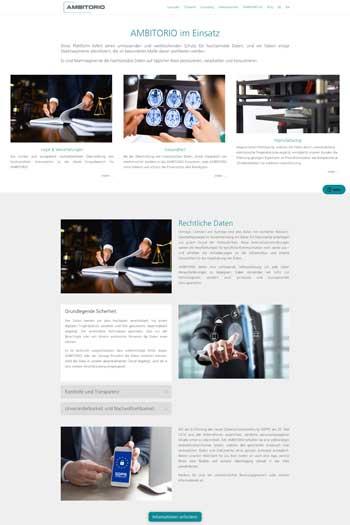 Webdesign für IT & Security - AMBITORIO