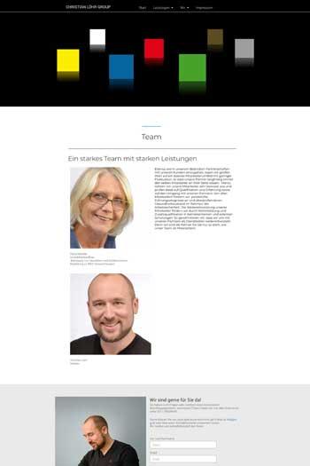 Webdesign für Service & Dienstleistungen - Löhr Group
