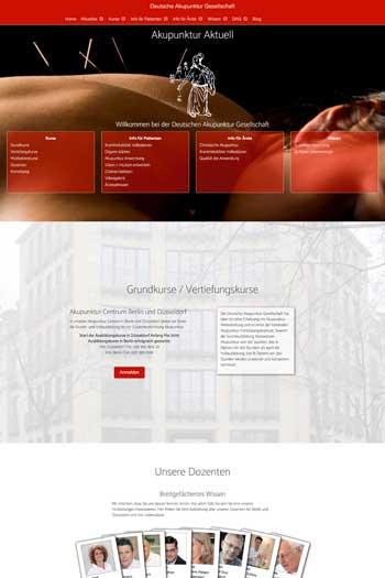 Webdesign für Gesundheit | Health - Deutsche Akupunktur Gesellschaft