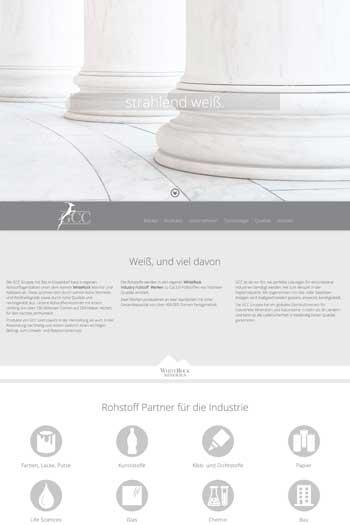 Webdesign für Industrie - GCC