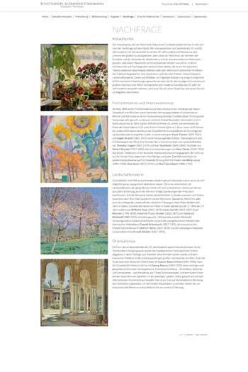 Webdesign für Kunst - Gemälde Ankauf Düsseldorf
