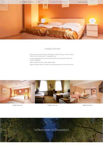 Webdesign für Service & Dienstleistungen - Hotel Herzog