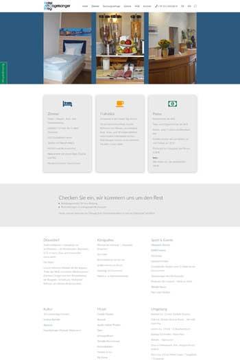 Webdesign für Service & Dienstleistungen - Hotel Am Vogelsanger Weg