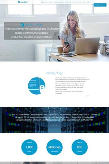 Webdesign für IT & Security - Identity TM