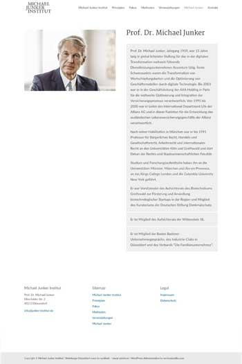 Webdesign für Coaching, HR, Human Resources, Personal - Junker Institut