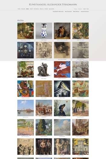 Webdesign für Kunst - Kunsthandel Stradmann