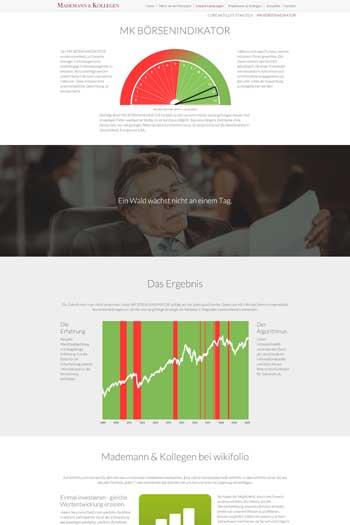 Webdesign für Finance Legal - Mademann & Kollegen