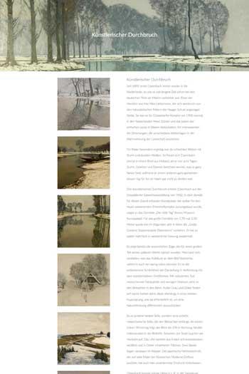 Webdesign für Kunst - Max Clarenbach by Kunsthandel Stradmann