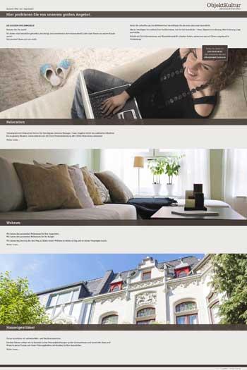 Webdesign für Architektur und Immobilien - ObjektKultur
