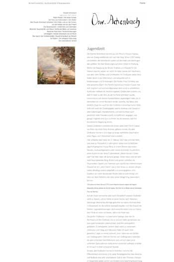 Webdesign für Kunst - Oswald Achenbach