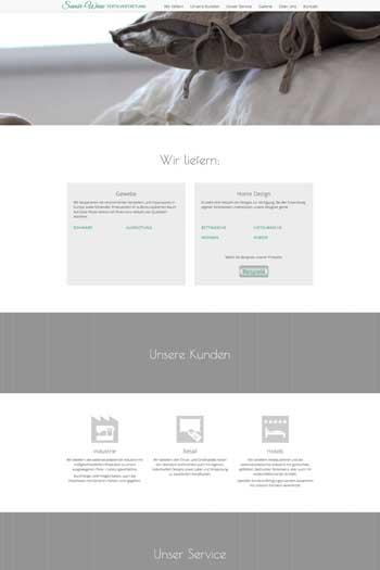 Webdesign für Service & Dienstleistungen - Savoir-Wiese Textilvertretung