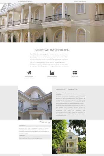 Webdesign für Architektur und Immobilien - Schrewe Immobilien