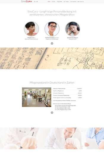 Webdesign für Gesundheut & Health - SinoCura