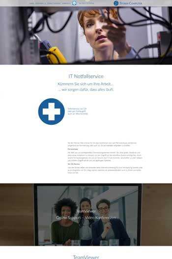 Webdesign für IT & Security - Stüber Computer