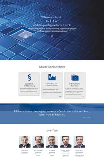 Webdesign für Finance Legal - TN Legal