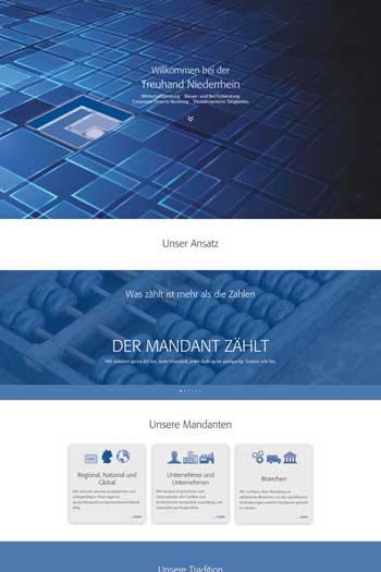 Webdesign für Finance Legal - Treuhand Niederrhein