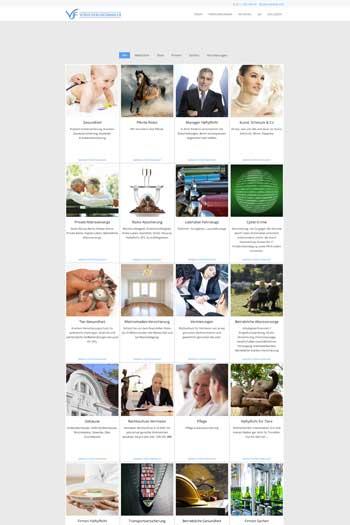 Webdesign für Finance Legal - VJF Versicherungsmakler