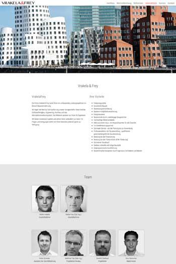 Webdesign für Architektur und Immobilien - Vrakela & Frey