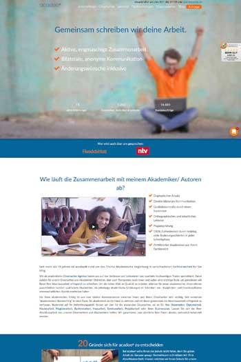 Webdesign für Service & Dienstleistung - acadoo