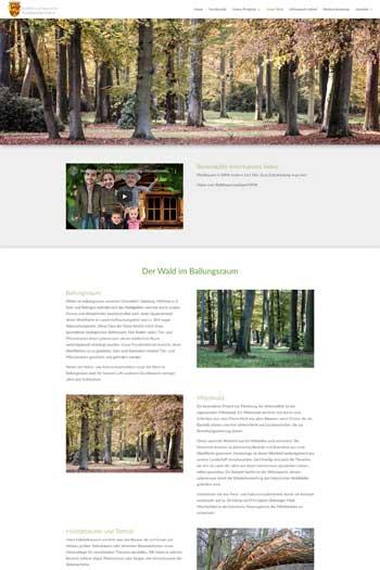 Webdesign Service und Dienstleistungen - Forstbetriebe Graf von Spee