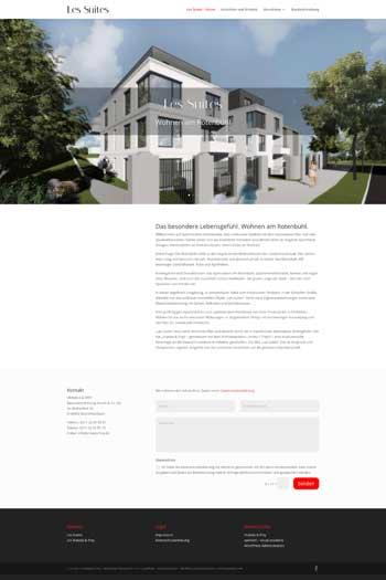 Webdesign für Architektur und Immobilien - Les Suites