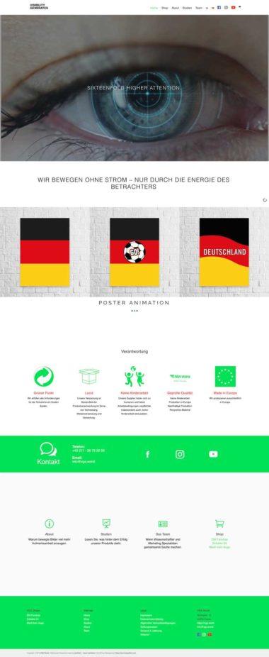 Webdesign Beispiel für eCommerce - VGS World